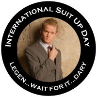 International suit up day in honour of Barney Stinson